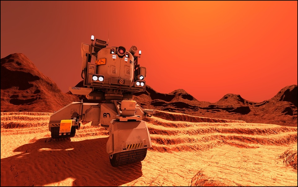Rover futurista para los desplazamientos por la superficie de Marte