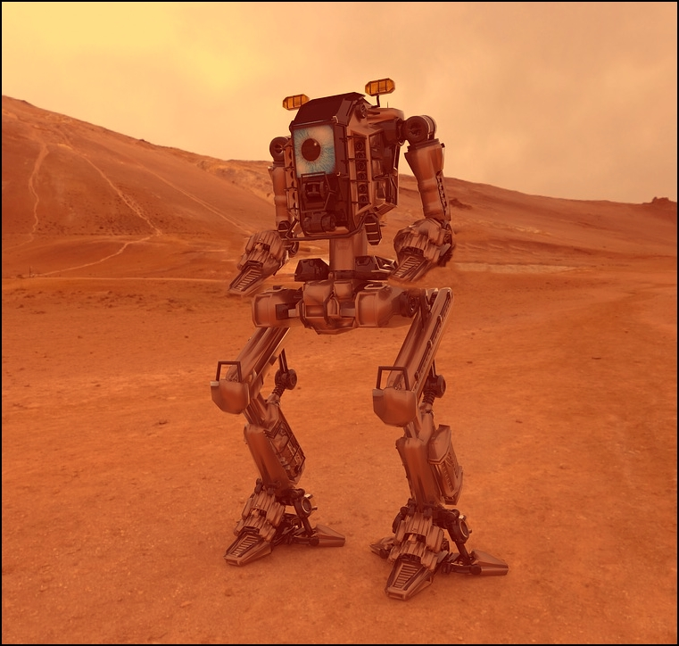 Percival, el cuarto pasajero de nave. Un robot fabricado expresamente para la misión.